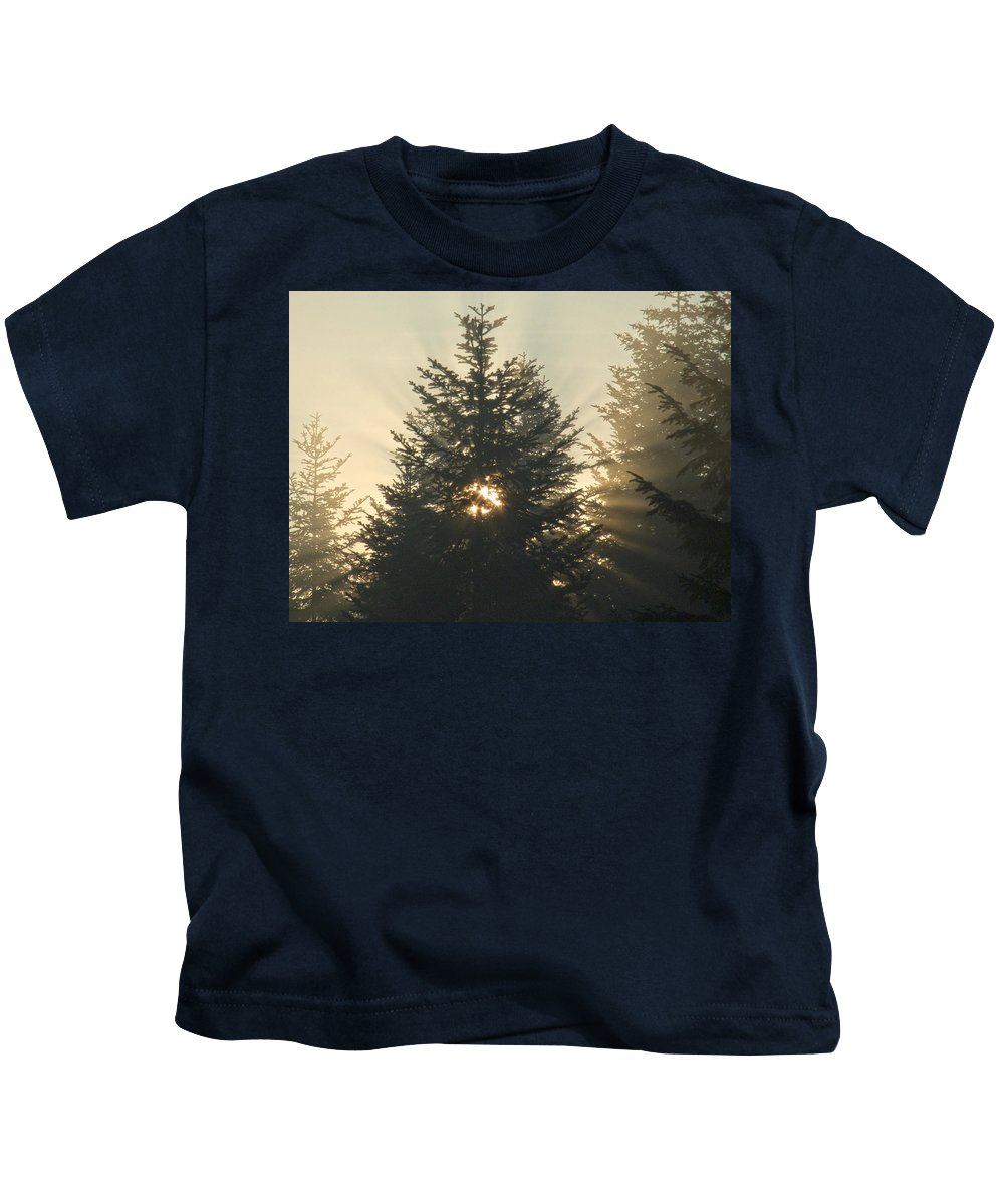 Nature Kids T-Shirt featuring the photograph Dawn by Daniel Csoka