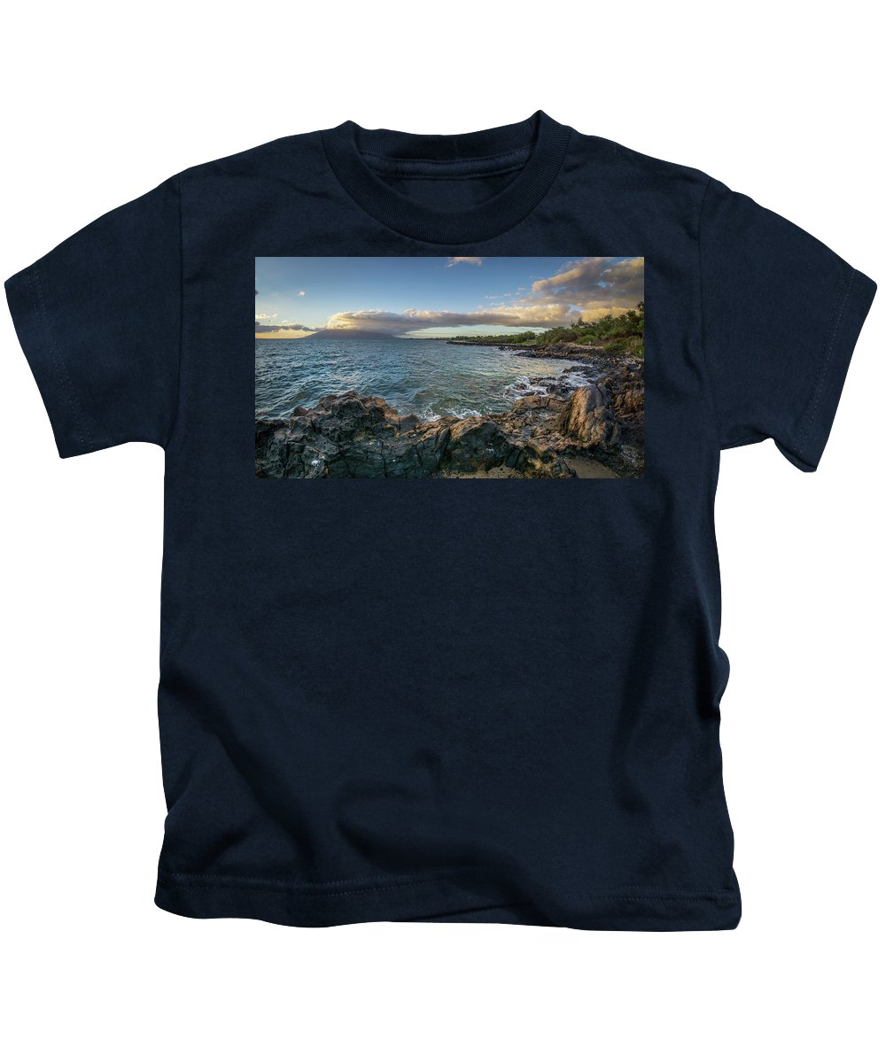 Landscape Kids T-Shirt featuring the photograph Maui Sunset by Sonia Bynum