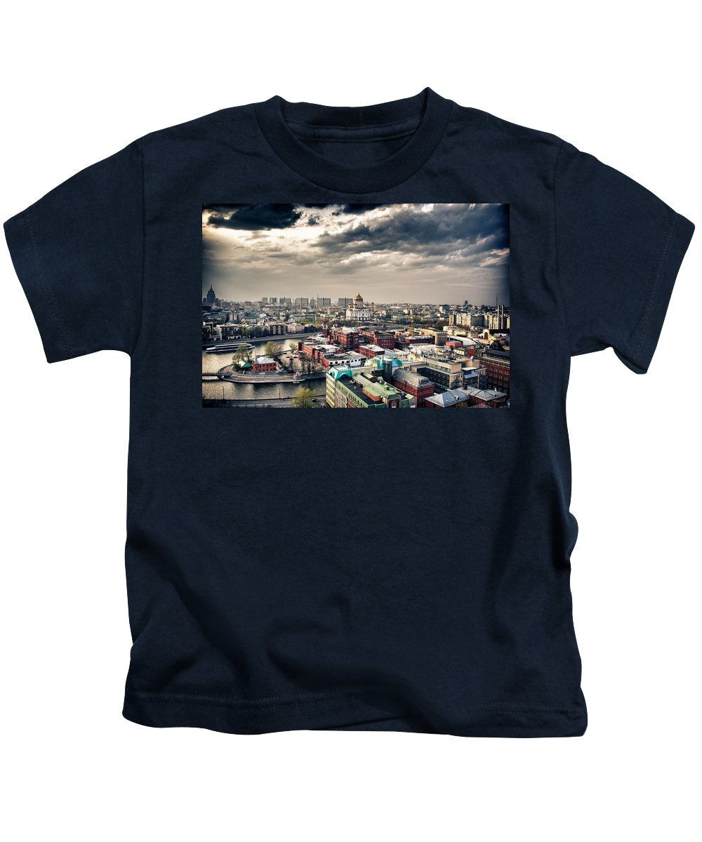 Moscow Kids T-Shirt featuring the digital art Moscow by Dorothy Binder