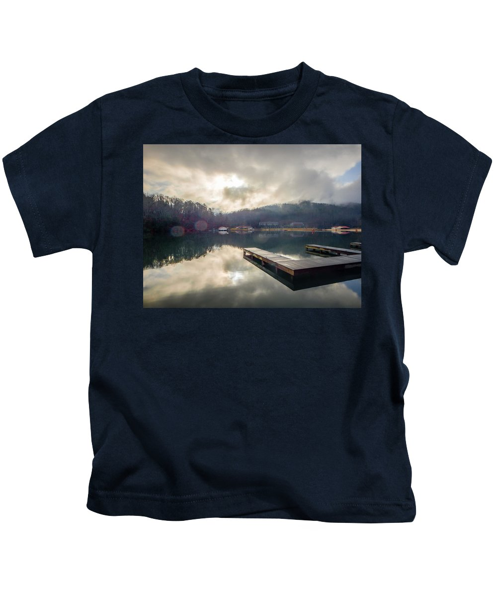 Nature Kids T-Shirt featuring the photograph Nature Views Near Chimney Rock And Lake Lure by Alex Grichenko