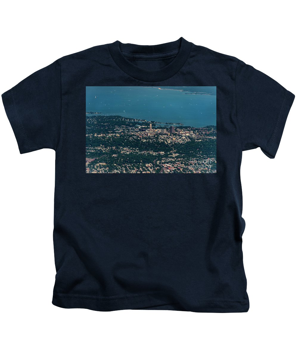 New Rochelle Kids T-Shirt featuring the photograph New Rochelle Real Estate Aerial Photo by David Oppenheimer