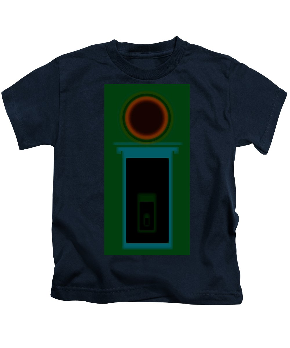 Palladian Kids T-Shirt featuring the painting Palladian Green by Charles Stuart