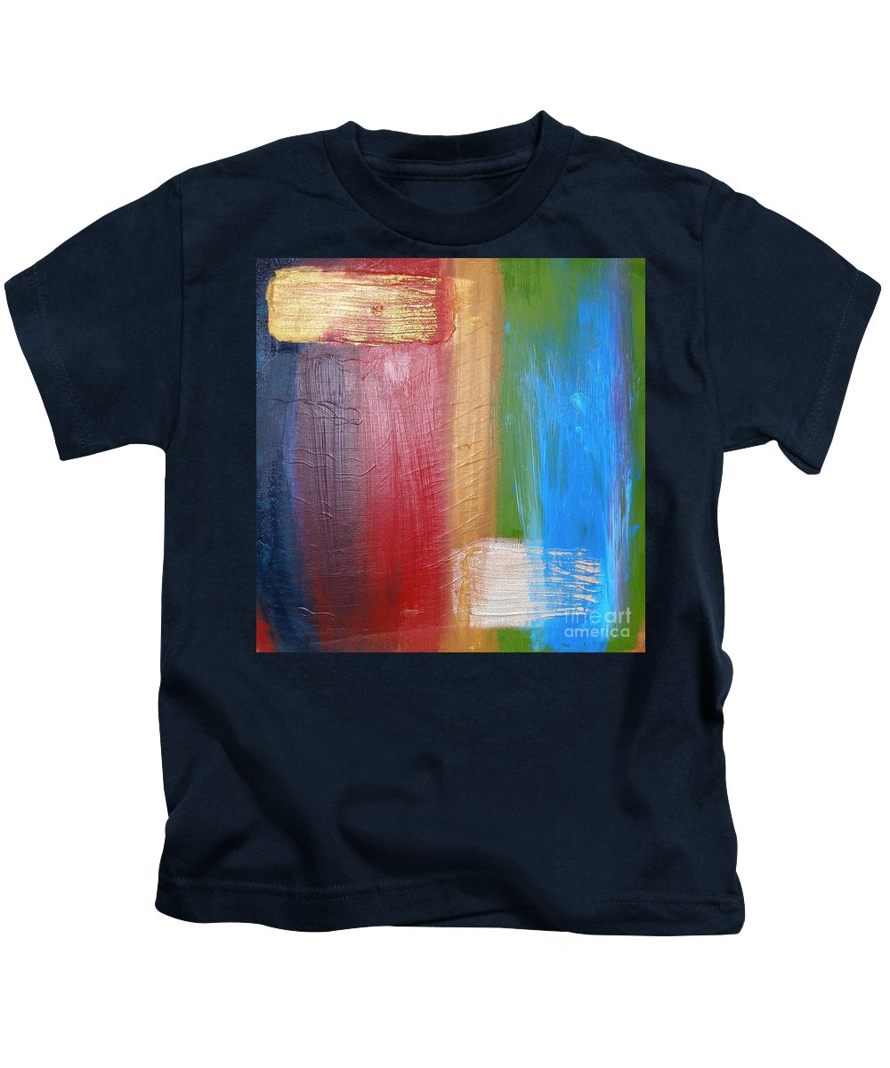 Rainbow Kids T-Shirt featuring the painting Radiance by Maria Bonnier-Perez