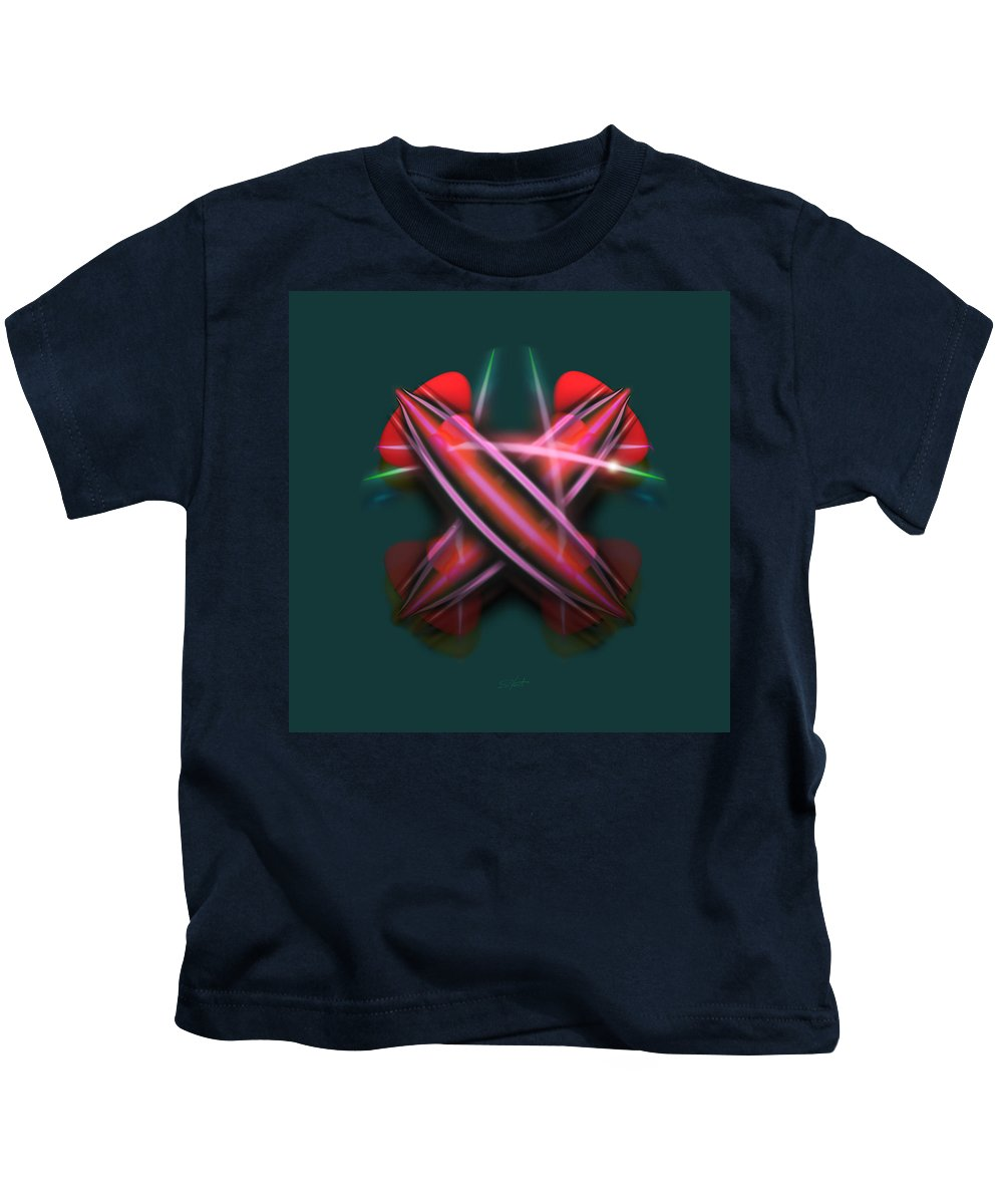 Swords Kids T-Shirt featuring the painting Sabre Dance by Charles Stuart