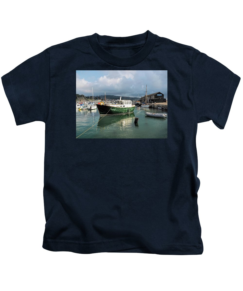 Lyme-regis Kids T-Shirt featuring the photograph September Morning - Lyme Regis Harbour by Susie Peek