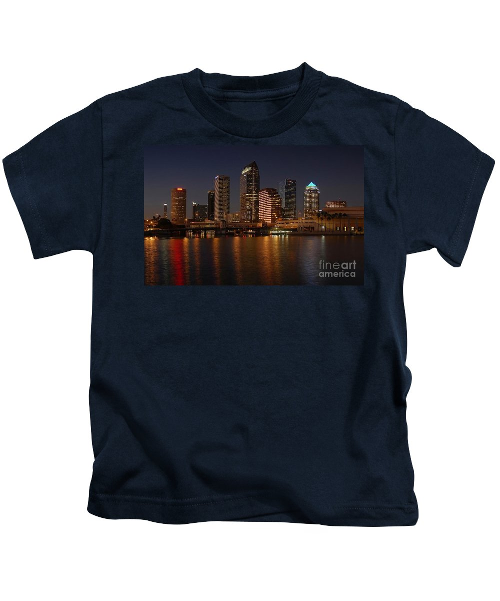 Tampa Kids T-Shirt featuring the photograph Tampa Florida by David Lee Thompson