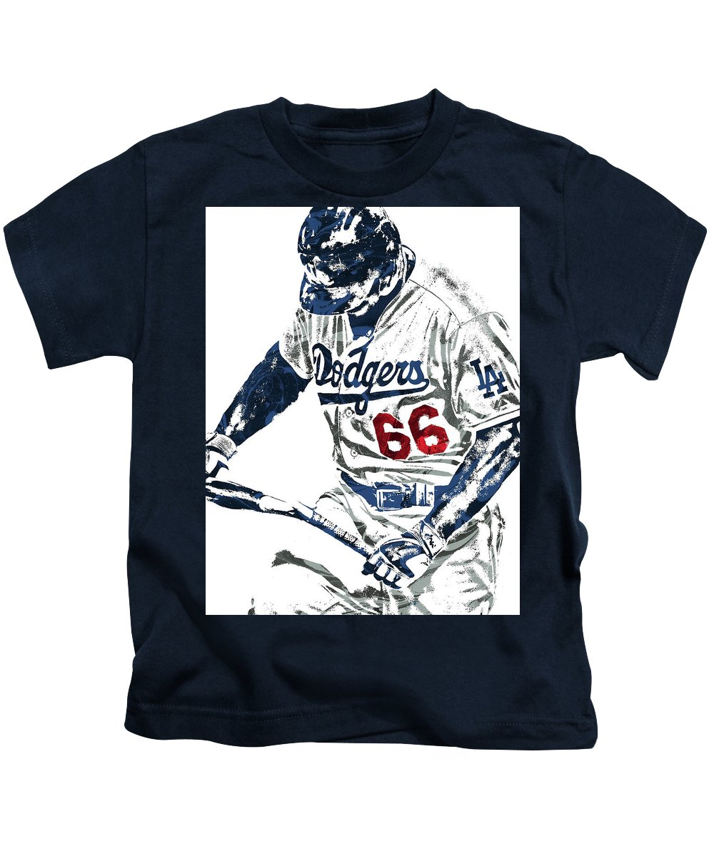 outlet store a7b54 7a9b6 Yasiel Puig Los Angeles Dodgers Pixel Art Kids T-Shirt