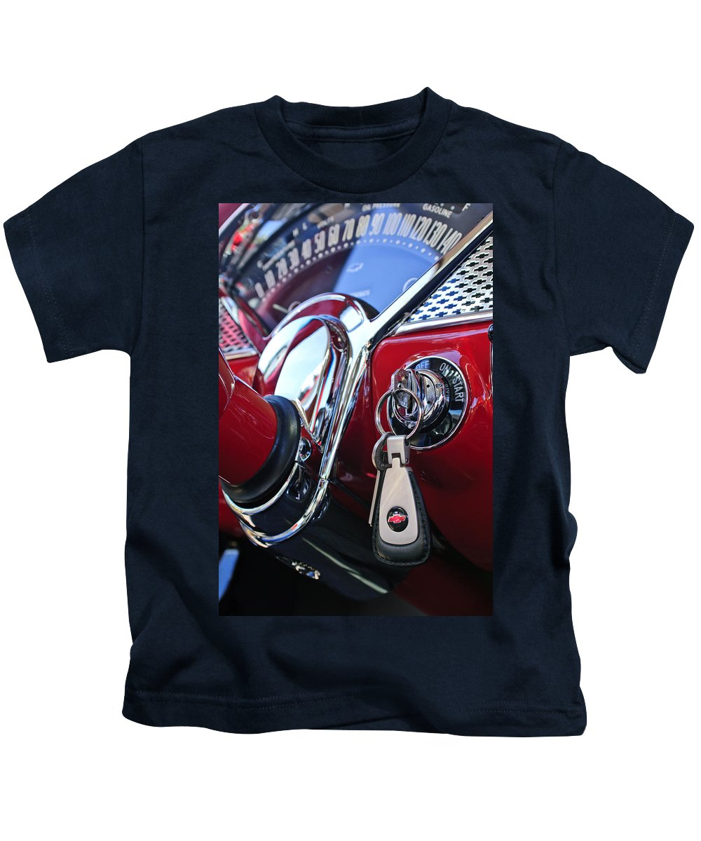 1955 Chevrolet 210 Kids T-Shirt featuring the photograph 1955 Chevrolet 210 Key Ring by Jill Reger