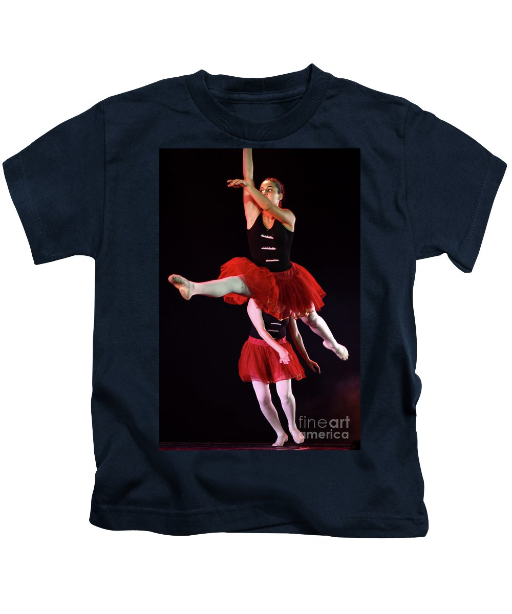 Ballet Kids T-Shirt featuring the photograph Ballet Performance by Chen Leopold