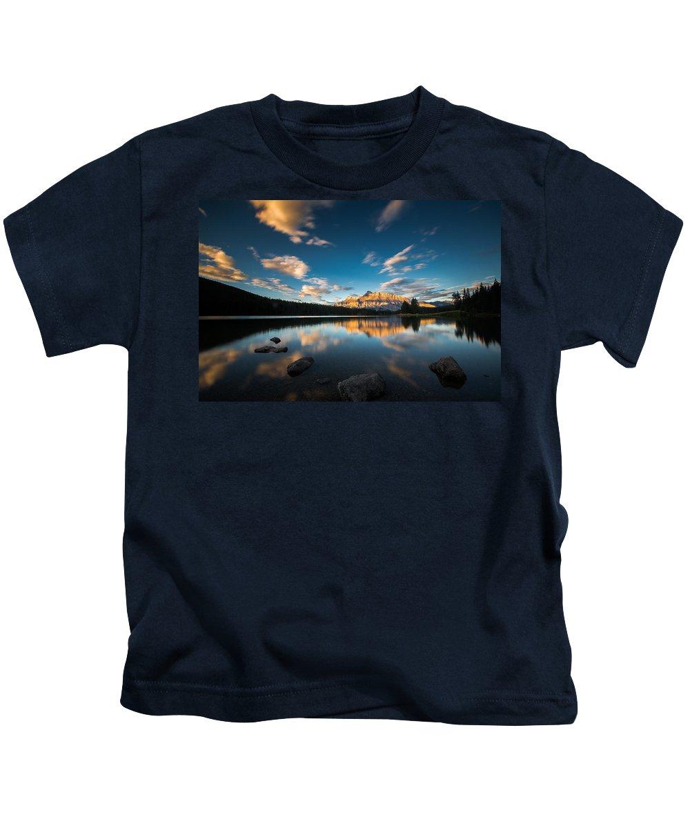 Banff Kids T-Shirt featuring the photograph Banff by David Wang