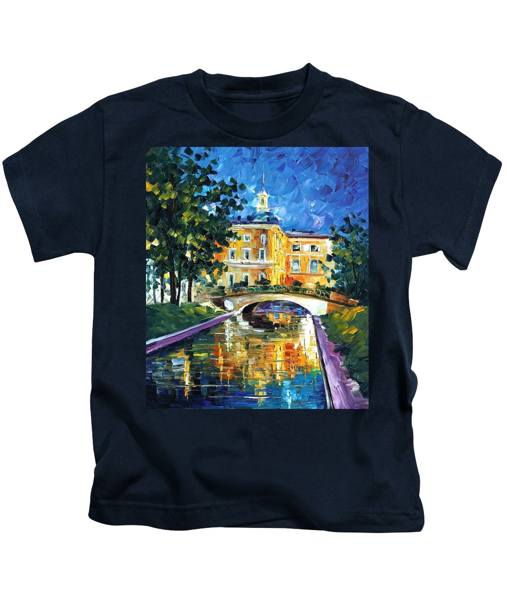 Afremov Kids T-Shirt featuring the painting St Petersburg by Leonid Afremov