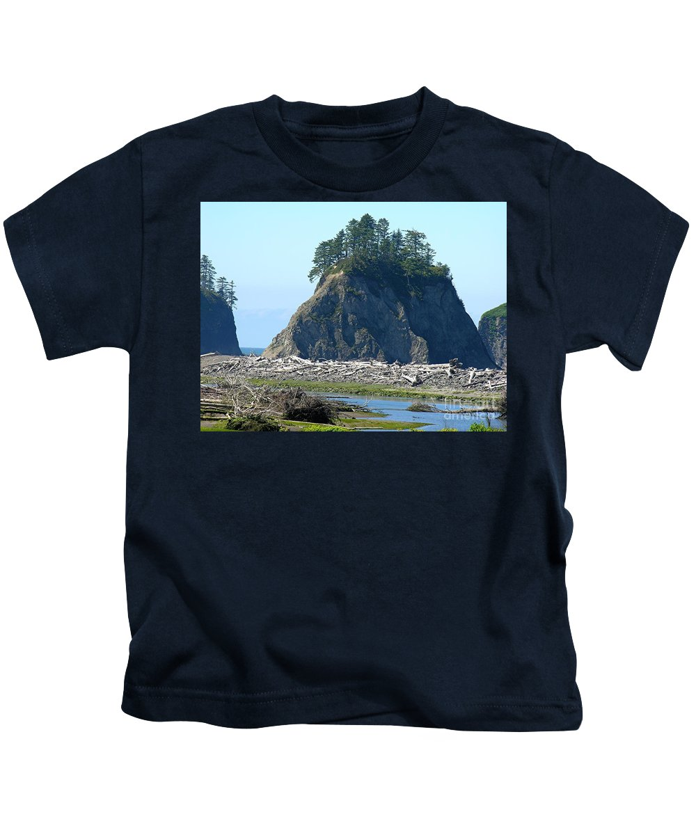 Ocean Kids T-Shirt featuring the photograph Washington Coast by Diane Greco-Lesser