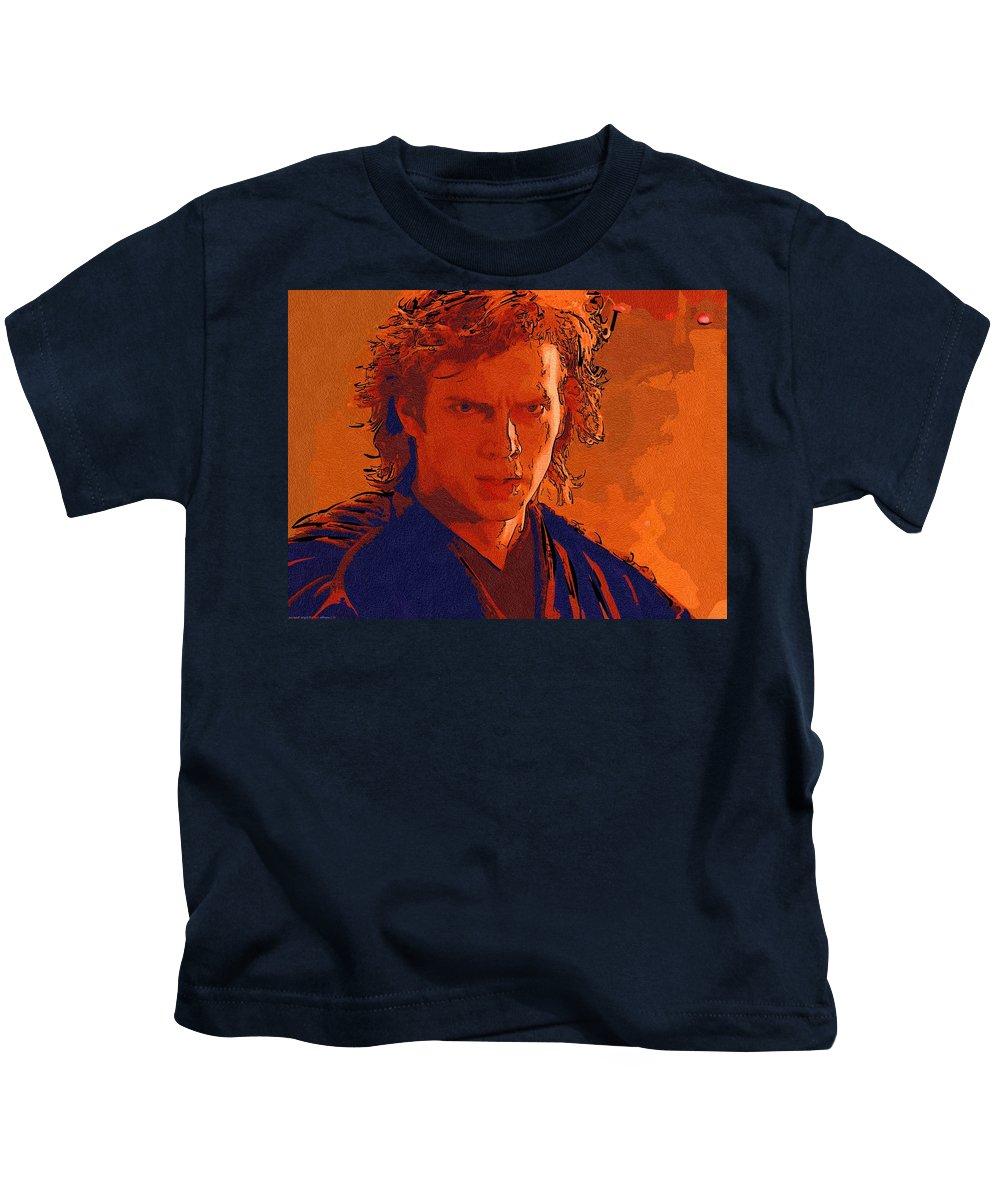 Star Wars Kids T-Shirt featuring the digital art Original Star Wars Poster by Larry Jones
