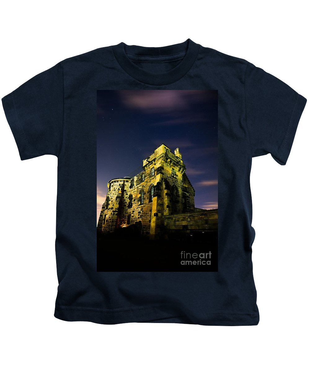 Old Observatory House Kids T-Shirt featuring the photograph Edinburgh Collection by John Noe