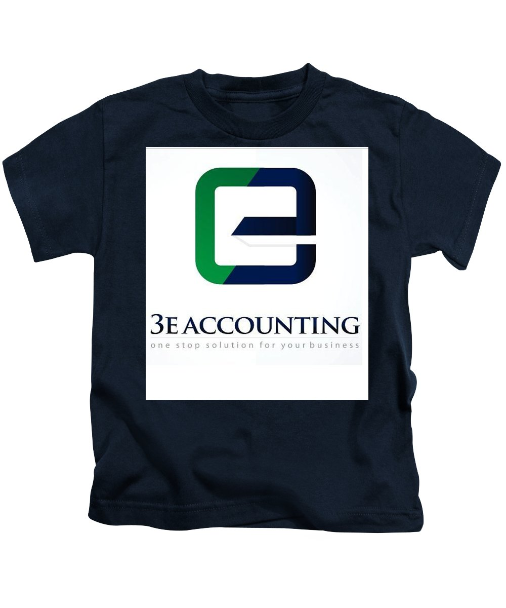 Accounting Kids T-Shirt featuring the glass art 3e Accounting Pte Ltd by Lawrence Chai