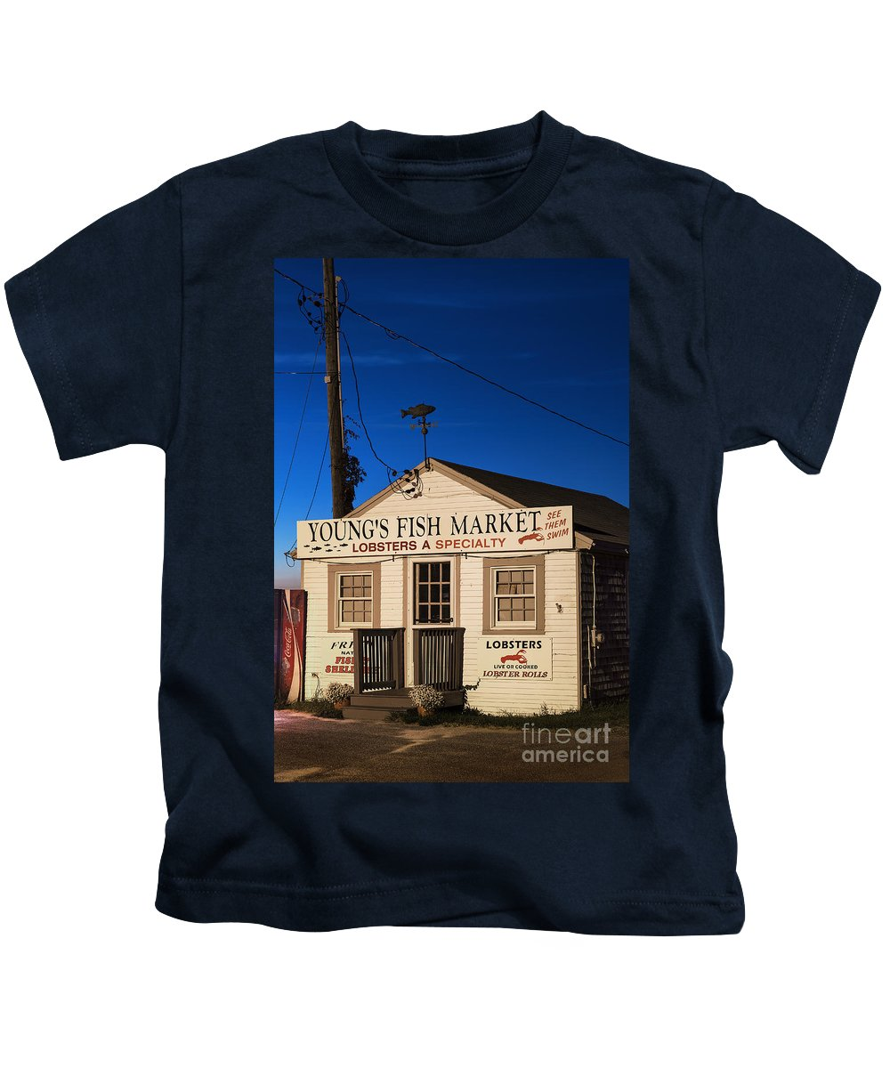 Cape Cod Kids T-Shirt featuring the photograph Lobster Shack by John Greim