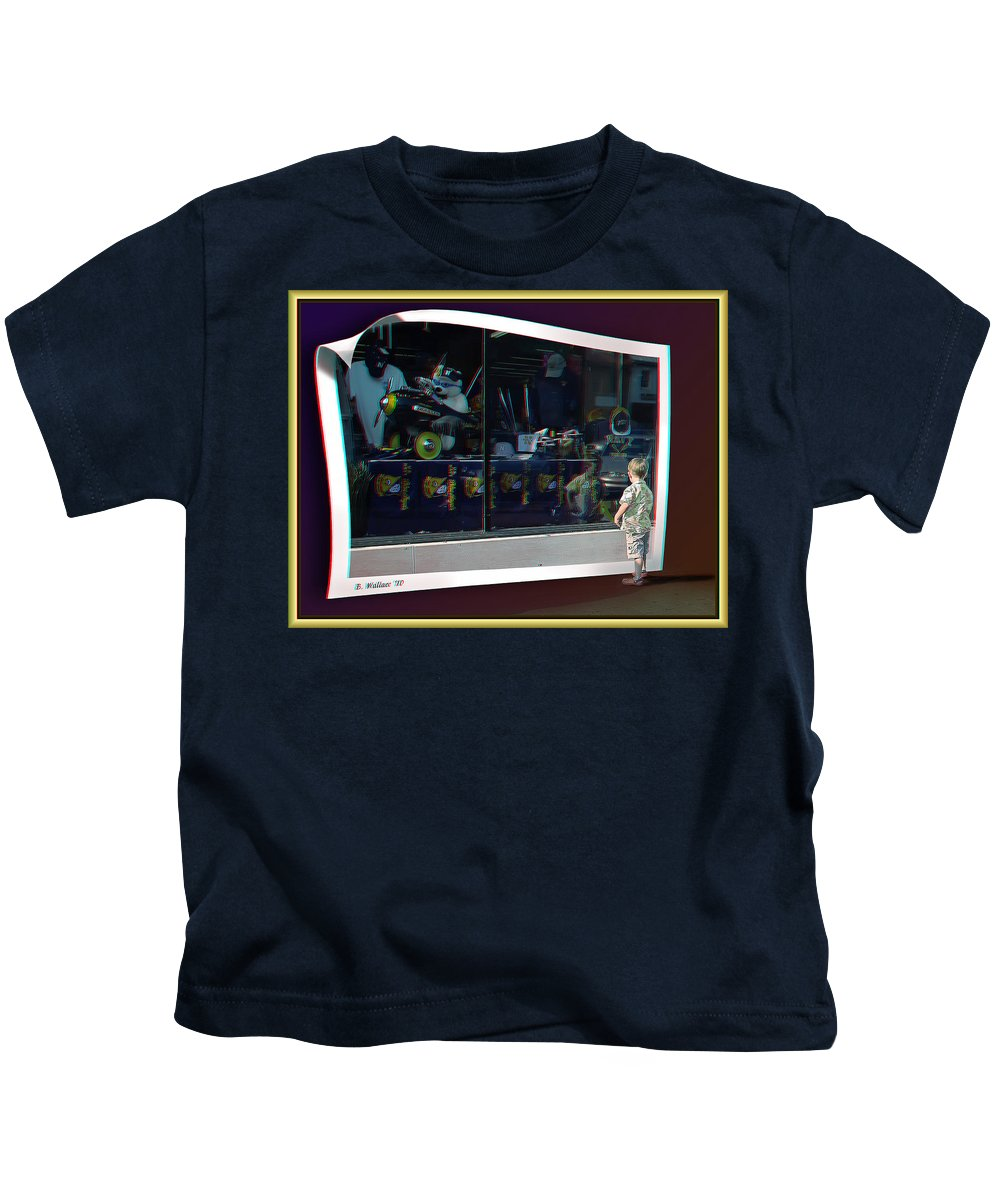 3d Kids T-Shirt featuring the photograph A Boy Can Dream - Use Red-cyan 3d Glasses by Brian Wallace