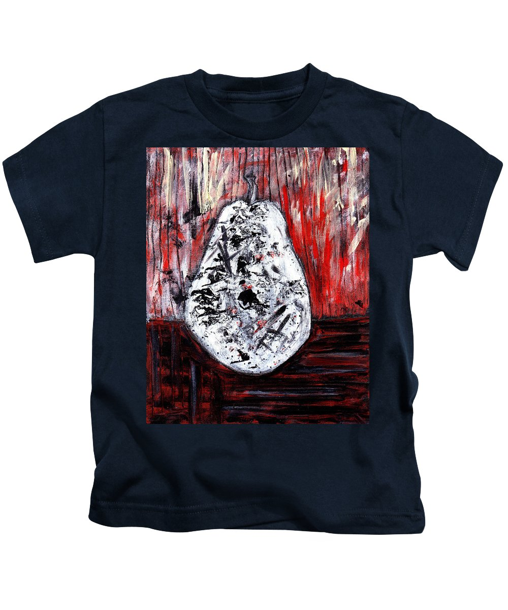 Pear Kids T-Shirt featuring the painting A Pear-antly by Wayne Potrafka