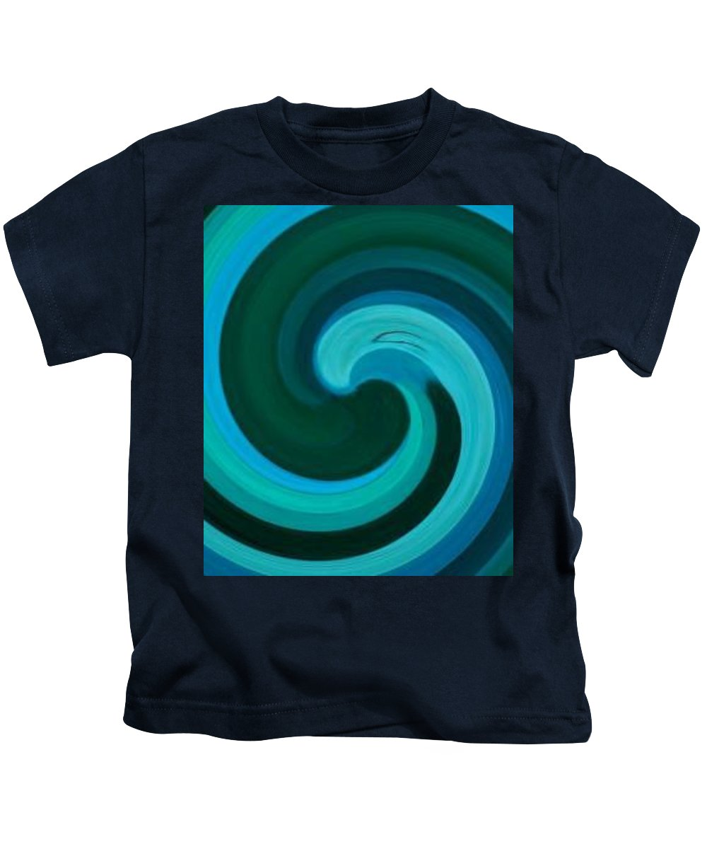Continuious Kids T-Shirt featuring the digital art A77 by Andrew Johnson
