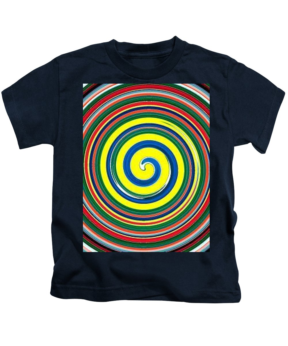 Digital Spiral Kids T-Shirt featuring the painting Abb1 by Andrew Johnson
