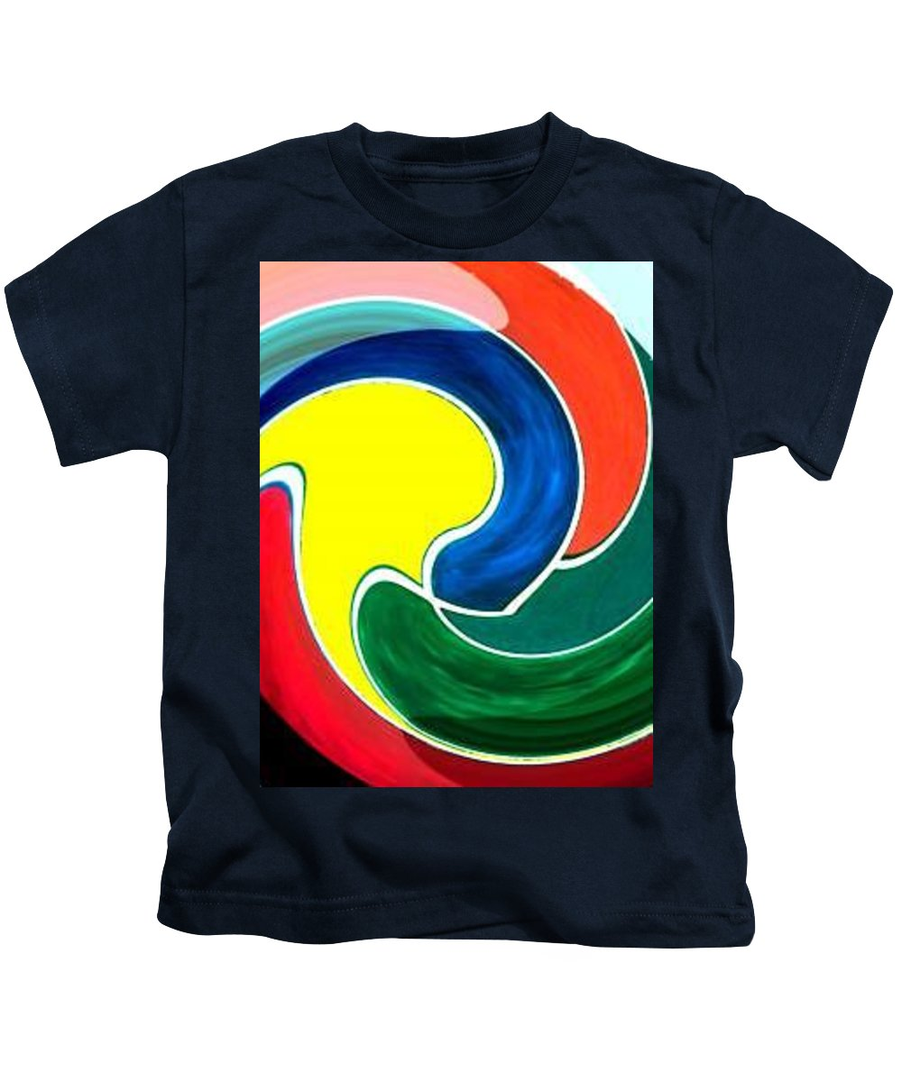 Digitalized Kids T-Shirt featuring the digital art Abbs by Andrew Johnson
