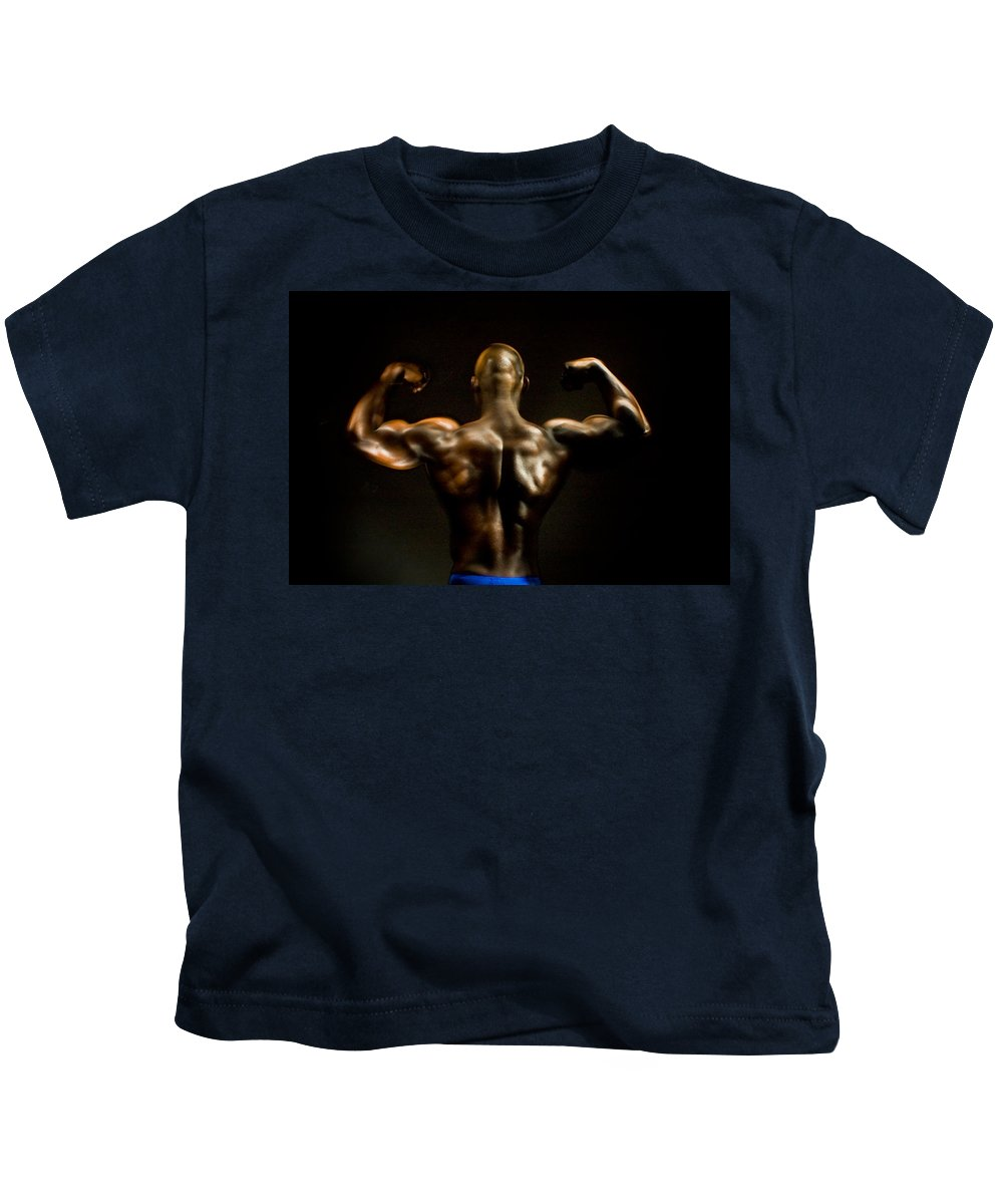 Human Form Kids T-Shirt featuring the photograph Abe 5745 by Timothy Bischoff