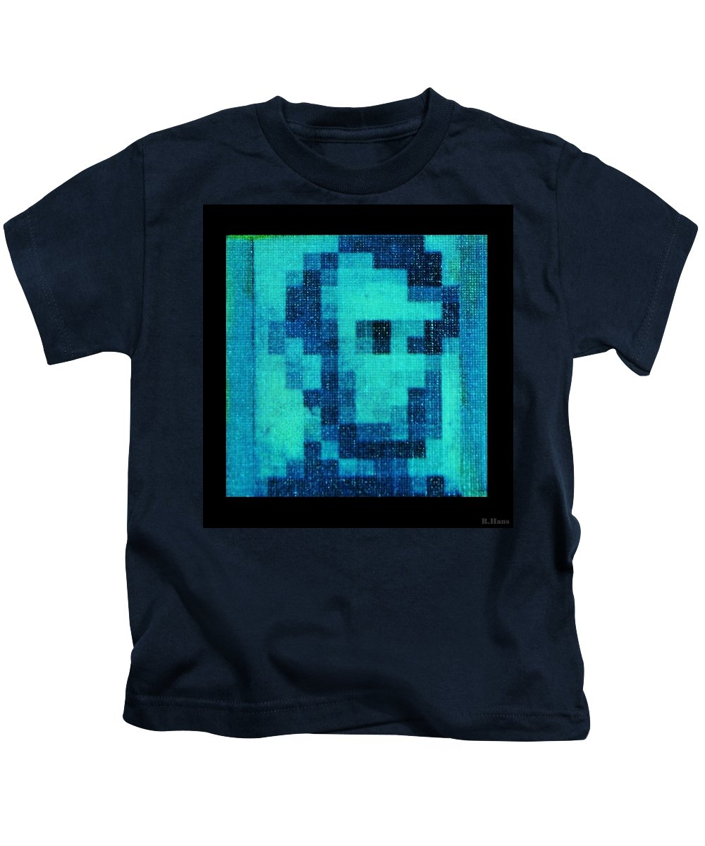 Blue Kids T-Shirt featuring the photograph Abe In Aqua by Rob Hans