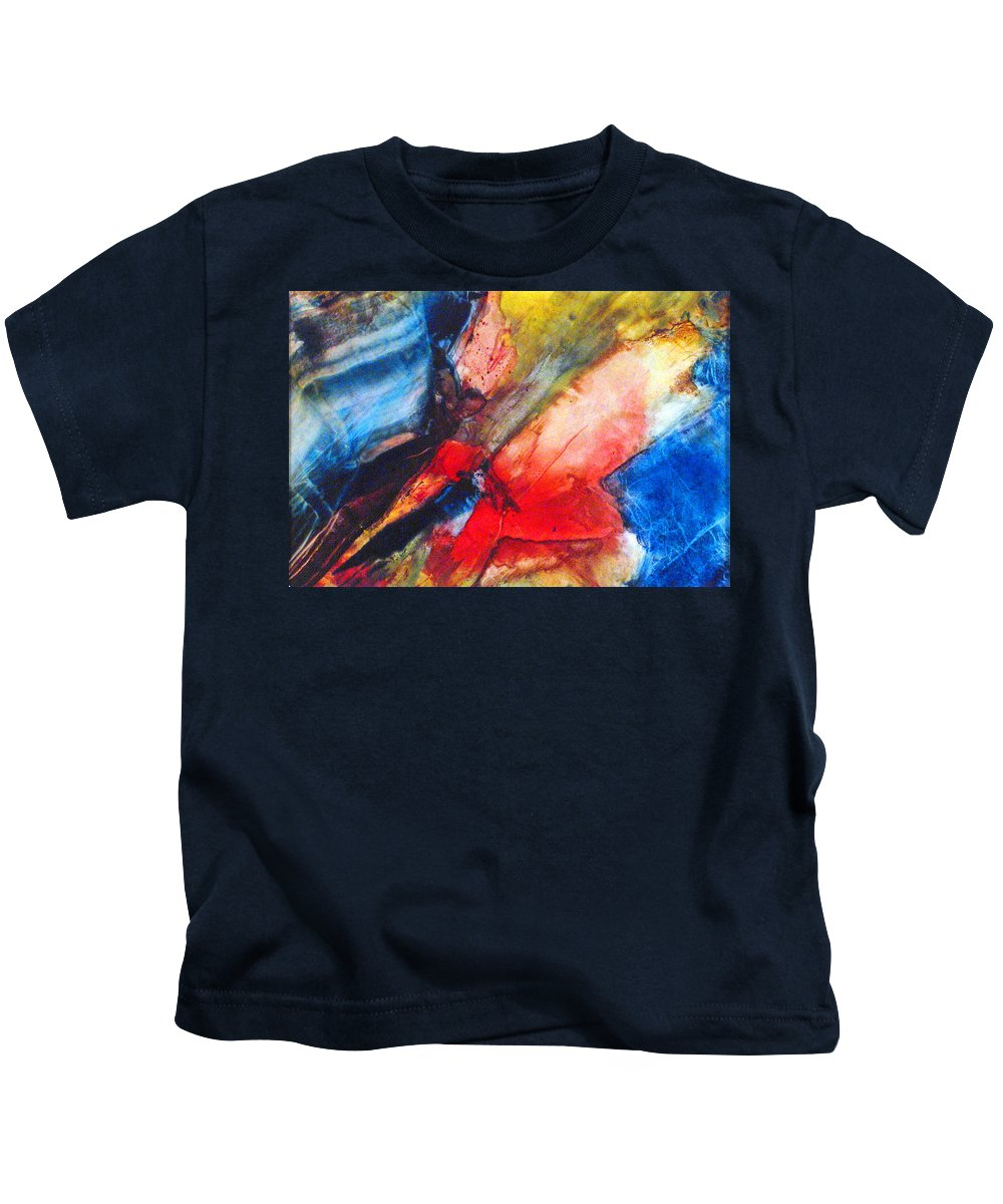 Abstract Kids T-Shirt featuring the painting Above The Sea by Janice Nabors Raiteri