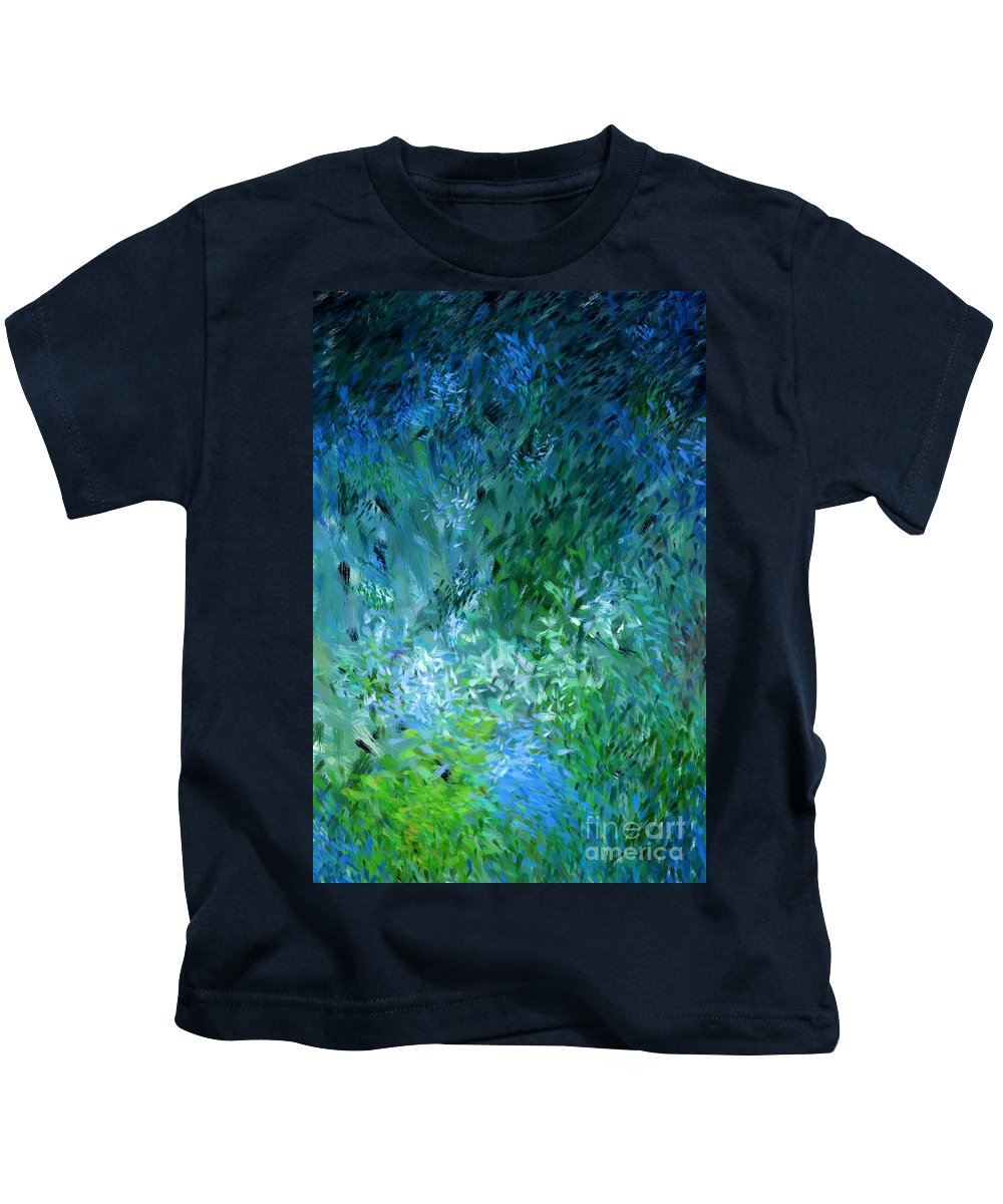 Abstract Kids T-Shirt featuring the digital art Abstract 05-25-09 by David Lane