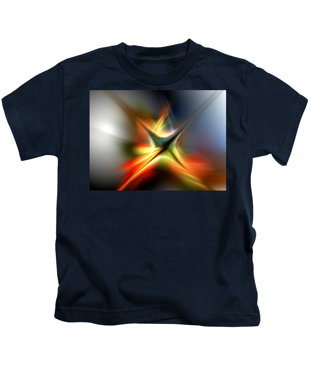 Digital Painting Kids T-Shirt featuring the digital art Abstract 060310A by David Lane