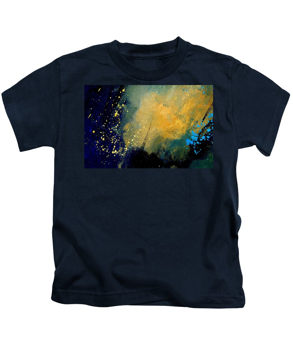 Abstract Kids T-Shirt featuring the painting Abstract 061 by Pol Ledent
