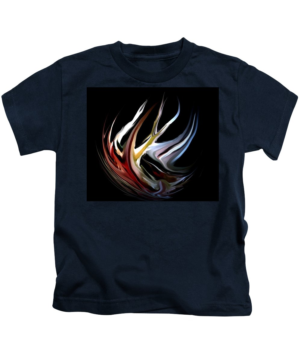 Abstract Kids T-Shirt featuring the digital art Abstract 07-26-09-c by David Lane