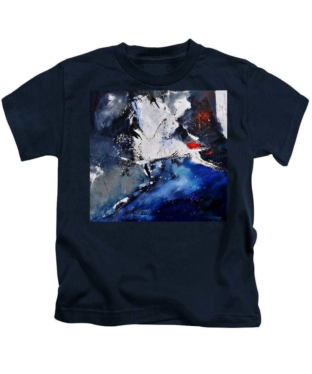 Abstract Kids T-Shirt featuring the painting Abstract 6611401 by Pol Ledent