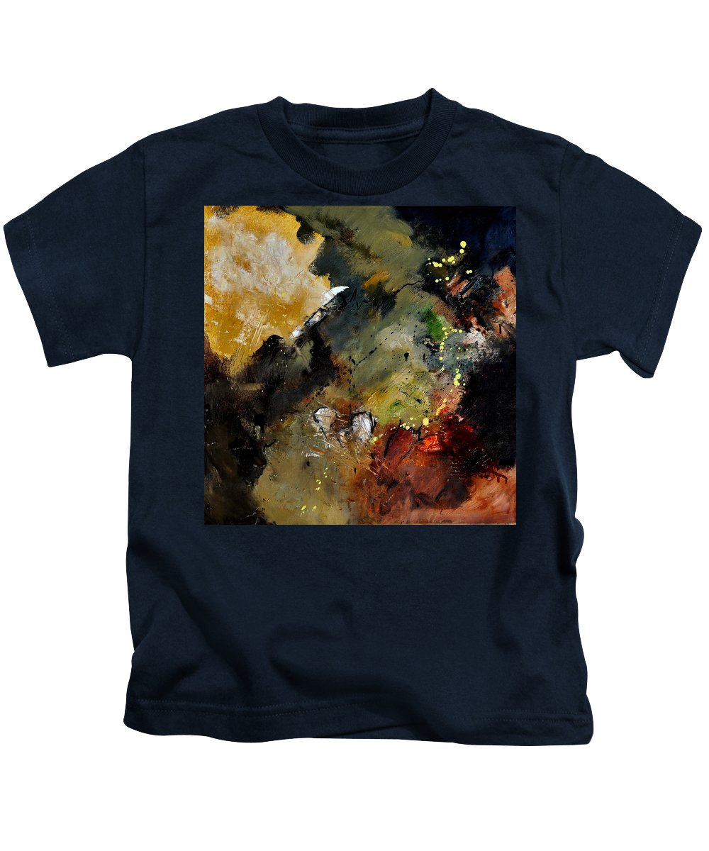 Abstract Kids T-Shirt featuring the painting Abstract 6611402 by Pol Ledent