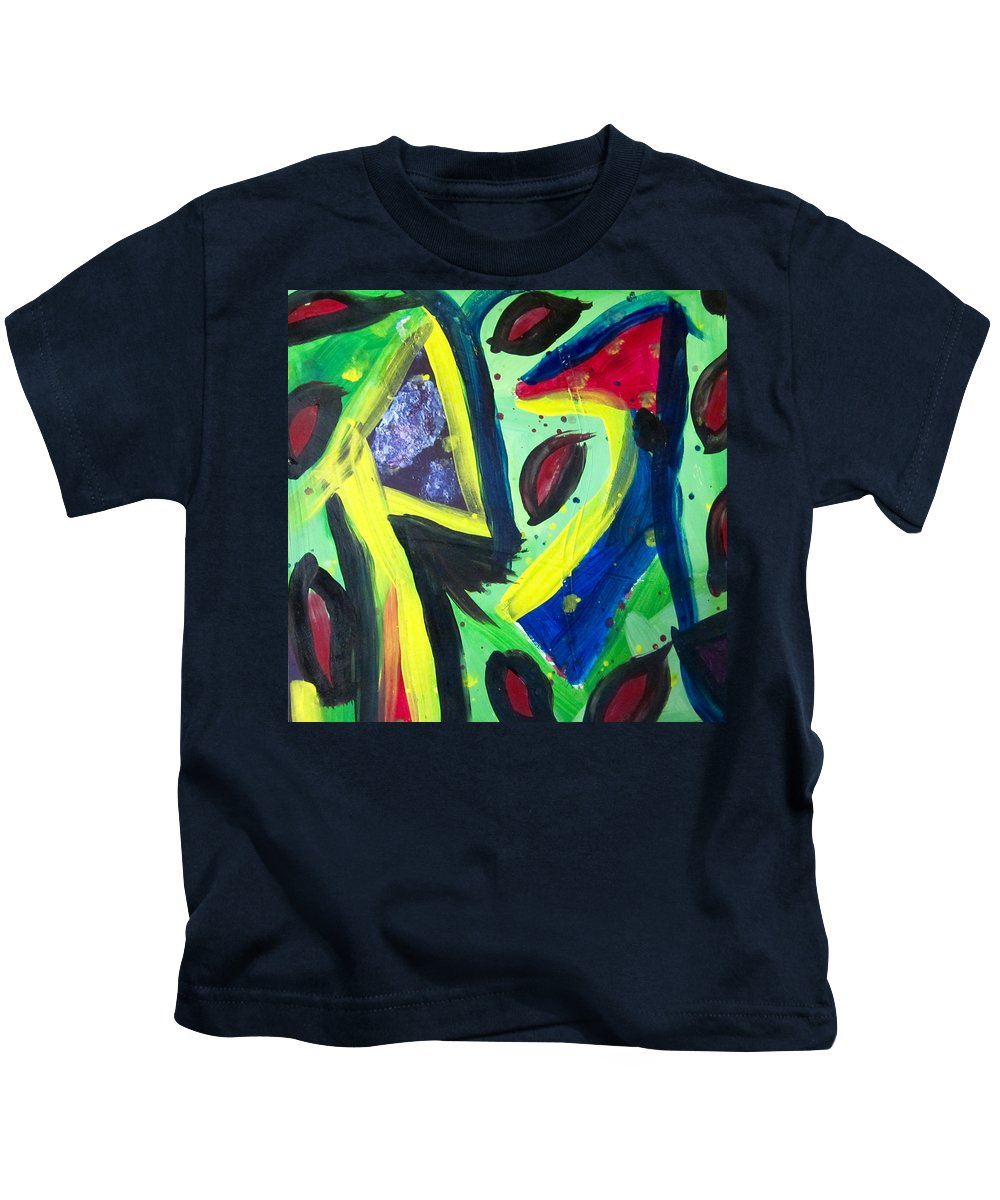 Abstract Kids T-Shirt featuring the painting Abstract3 by Cheryl Viering