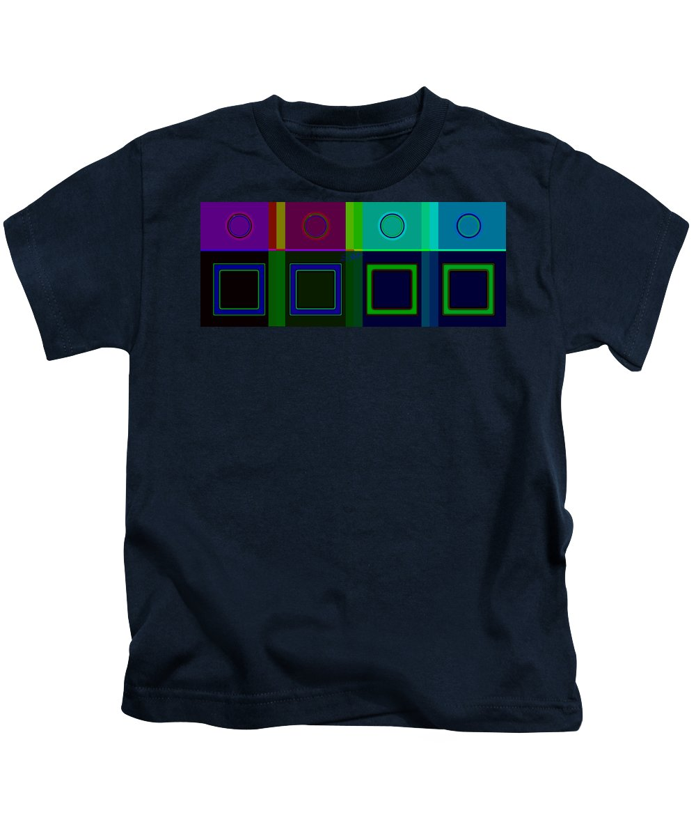 Classical Kids T-Shirt featuring the digital art Albers Medal by Charles Stuart