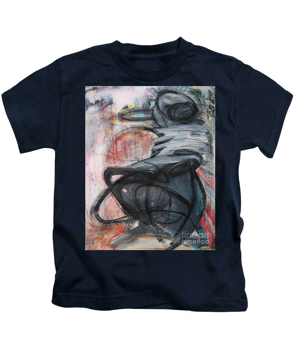 Abstract Paintings Paintings Kids T-Shirt featuring the painting All Alone by Seon-Jeong Kim