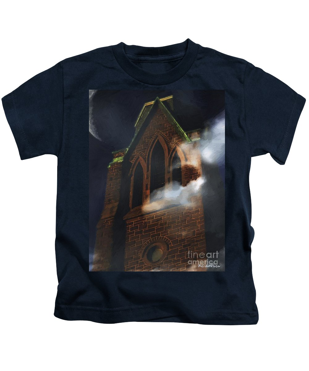 Church Kids T-Shirt featuring the painting All Hallows by RC DeWinter
