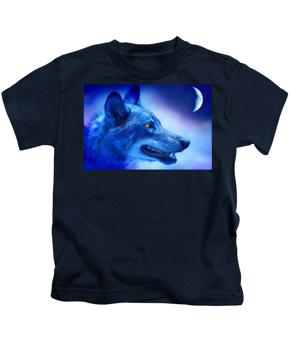Wolf Kids T-Shirt featuring the photograph Alpha Wolf by Mal Bray