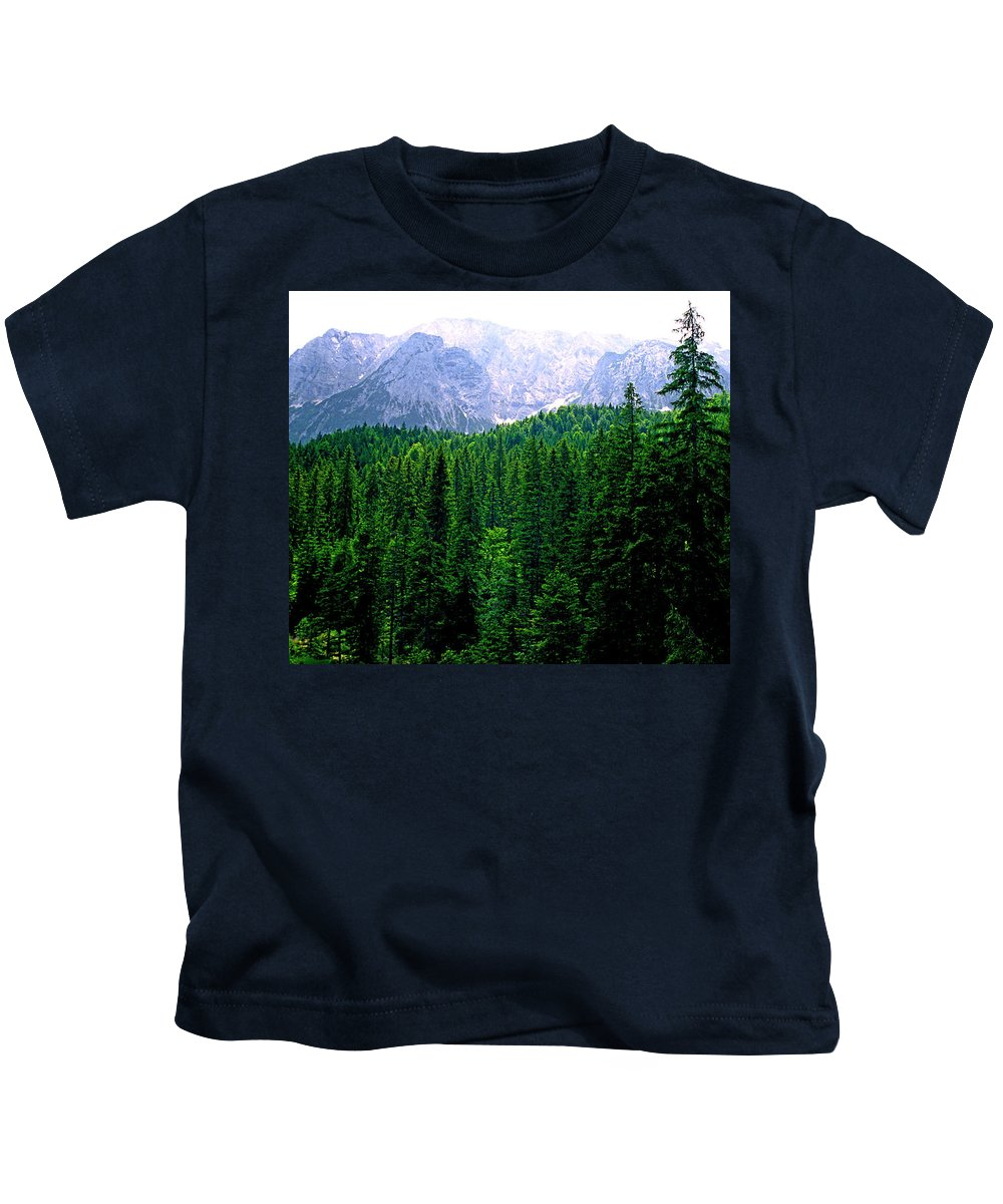 Bavaria Kids T-Shirt featuring the photograph Alpine Forest by Kevin Smith