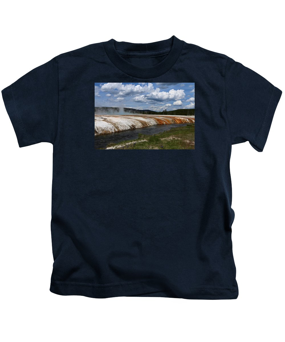 Park Kids T-Shirt featuring the photograph Amazing Cliff Geyser by Christiane Schulze Art And Photography
