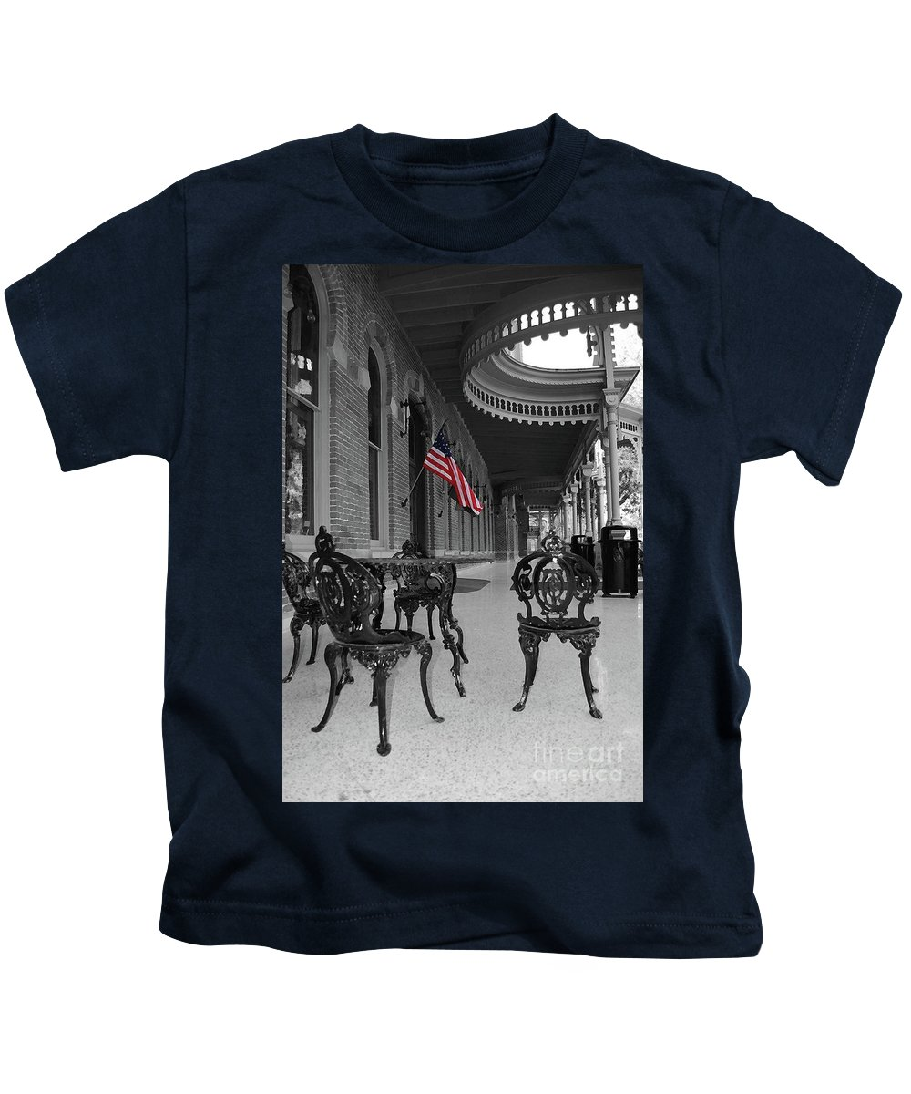 University Kids T-Shirt featuring the photograph American Past by Jost Houk