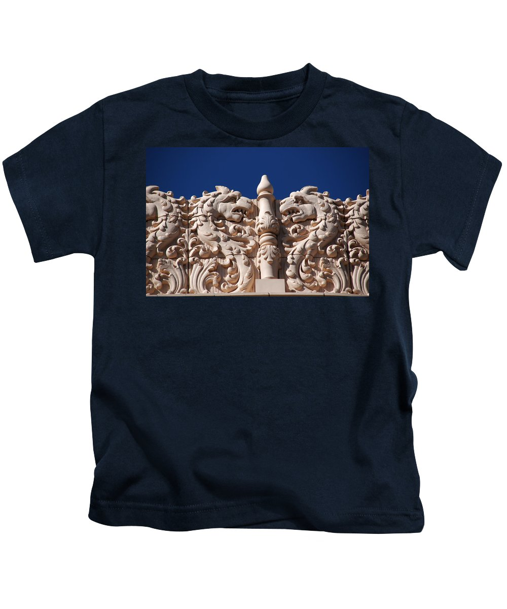 Architectur In Santa Fe Kids T-Shirt featuring the photograph Architecture At The Lensic Theater In Santa Fe by Susanne Van Hulst