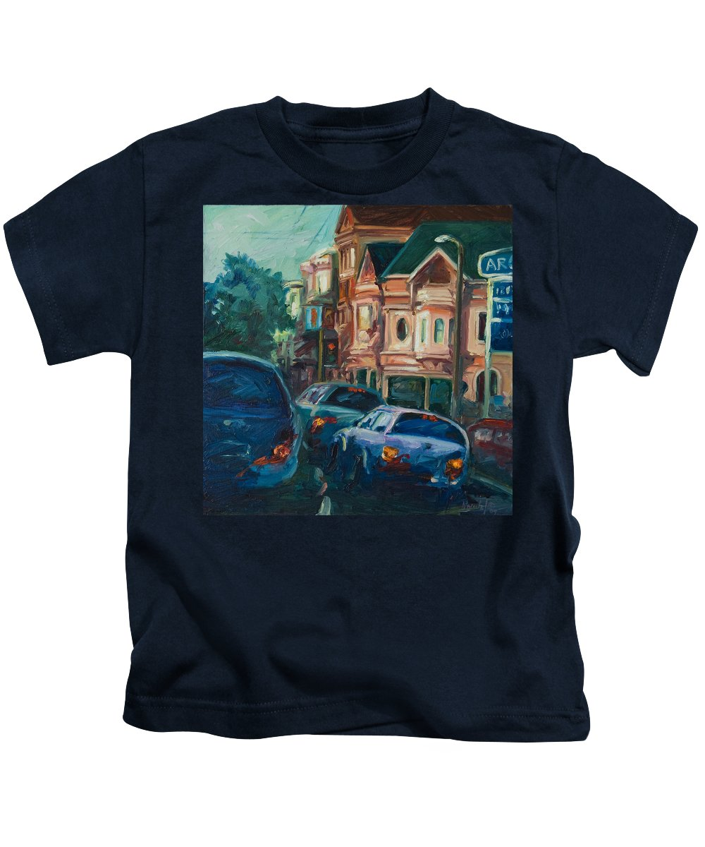 Trees Kids T-Shirt featuring the painting Arco by Rick Nederlof
