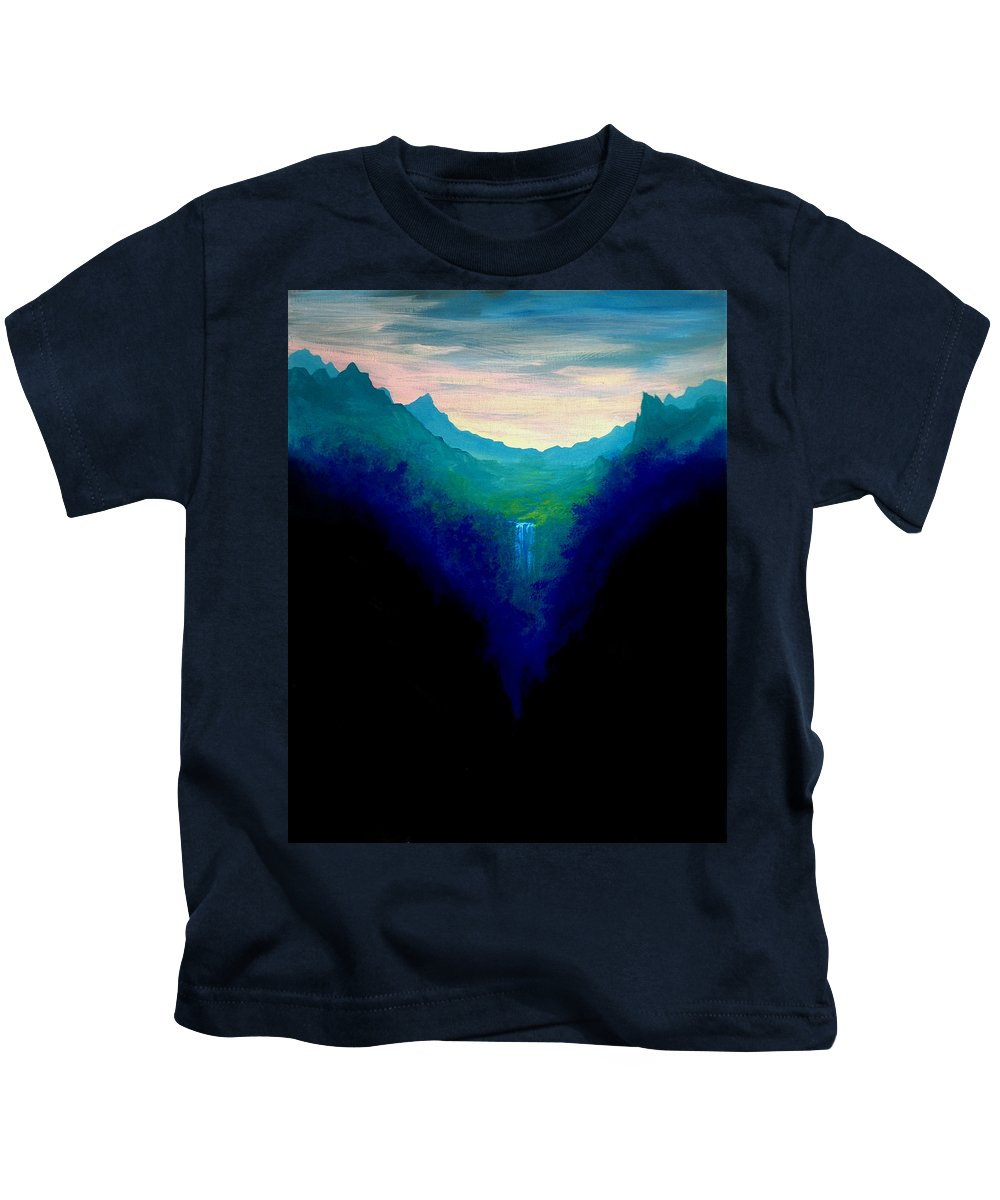 Book Cover Art Kids T-Shirt featuring the painting Arwen Cover Art 1 by Mandy Elliott