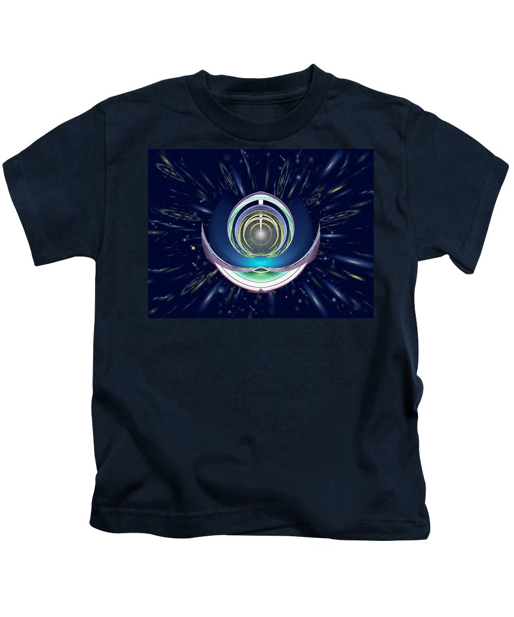 Abstract Kids T-Shirt featuring the digital art Astral Speedway by Tim Allen