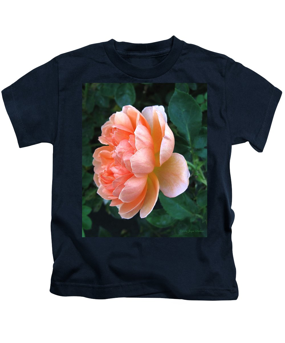 Rose Kids T-Shirt featuring the photograph August Rose 09 by Joyce Dickens