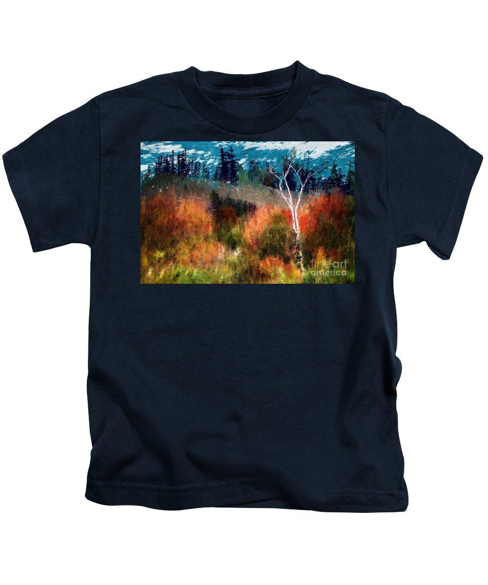 Digital Photo Kids T-Shirt featuring the digital art Autumn Feel by David Lane