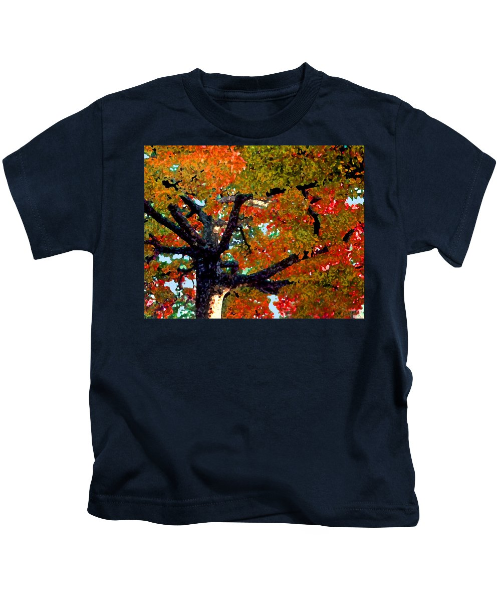 Fall Kids T-Shirt featuring the photograph Autumn Tree by Steve Karol