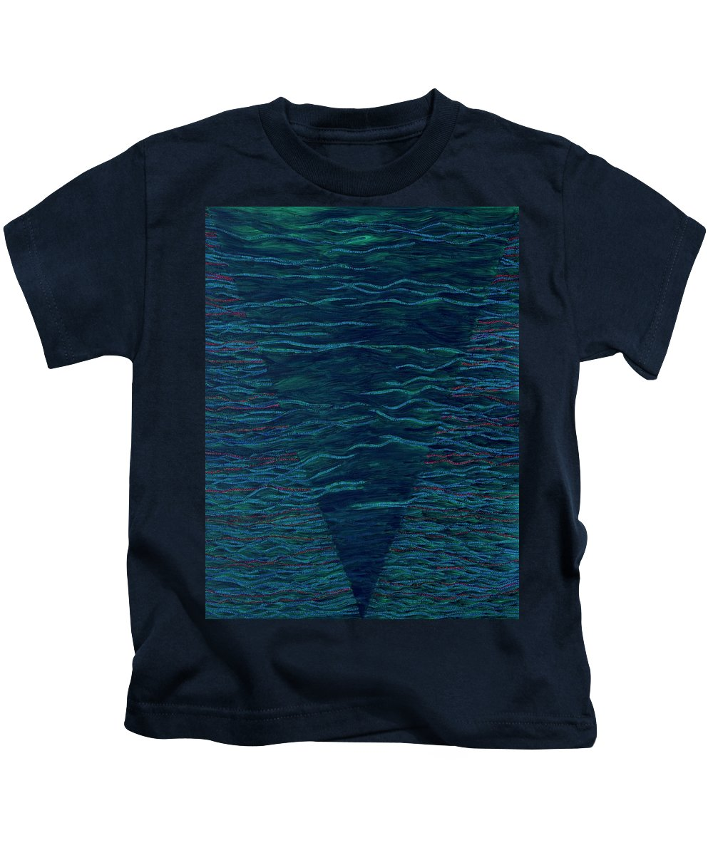 Spiritual Kids T-Shirt featuring the painting Back To Heaven 2 by Kyung Hee Hogg
